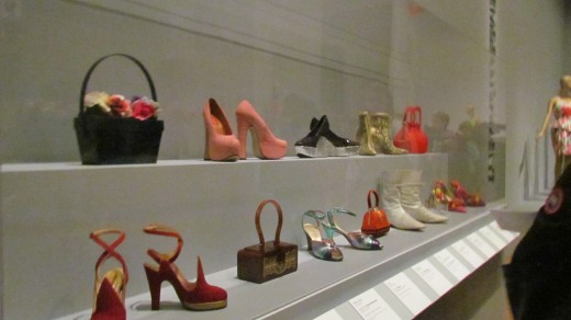 An inventive array of shoes and handbags that were on display during the fashion exhibition at the Philadelphia Museum of Art.