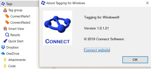 Tagging for Windows Help is available via Connect  Website link