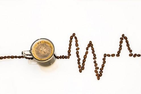 a glass coffe
