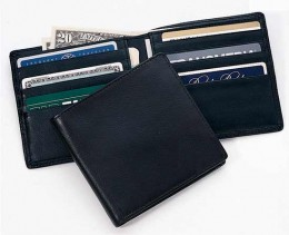 A mens leather wallet is durable and elegant
