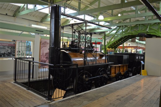 Locomotion No. 1, an early Stockton & Darlington locomotive built at Robert Stephenson's Forth Road Works, Newcastle-upon-Tyne to father George's drawings