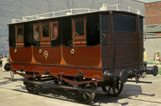 S&DR composite carriage (1st and 2nd Class) now seen at the Head of Steam museum