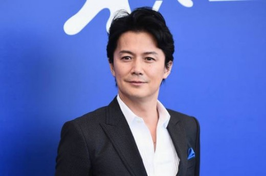 Fukuyama at the 2017's Venice Film Festival for The Third Murder
