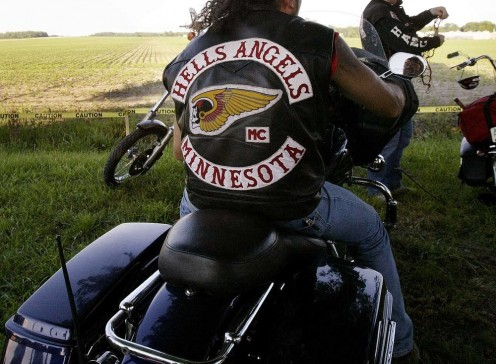 Member of Hell's Angels wearing The Colors.