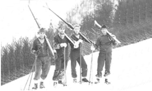 Skiing in Germany, courtesy of the British Army, during National Service.