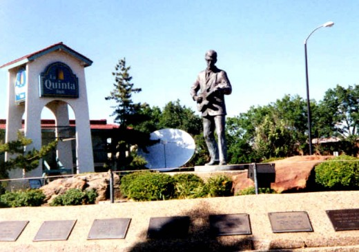 Buddy Holly at Lubbock, near the Buddy Holly Center and Museum.