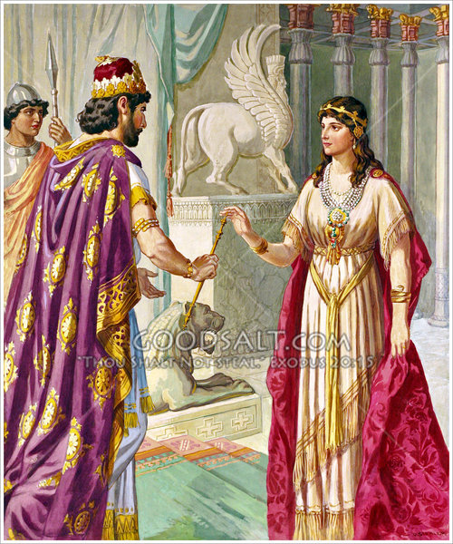 Esther welcomed by King