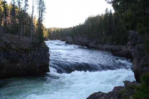 Above the Falls on the Yellowstone River