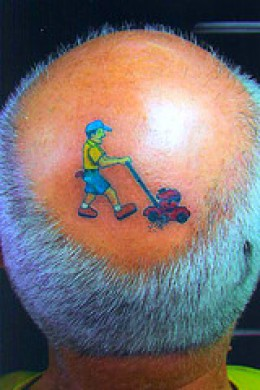If worse comes to worse, just have a funny tattoo inked on your head!