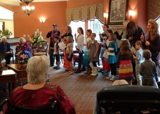 School children's singing groups are a welcomed event at skilled nursing homes.