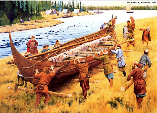 Viking age portage across Russia between the latter half of the 10th to 11th Centuries, AD 950-1000