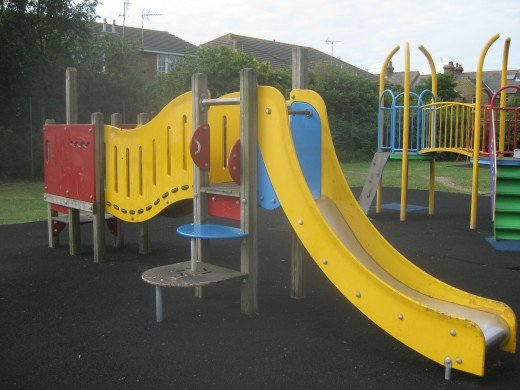 One of the climbing frames in Cornwallis Circle play area.