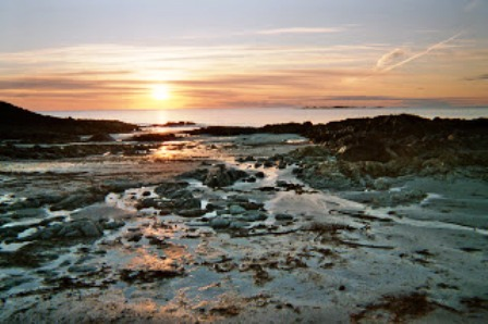 An Irish shore in the evening - like the old stories, full of surprises, twists and turns