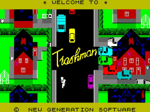 As soon as you laid eyes on the colourful graphics, you just knew Trashman was going to be good