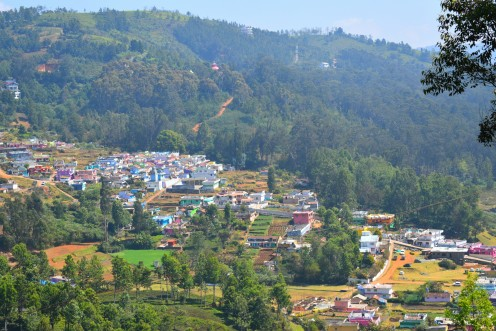 view from the rose garden, Ooty