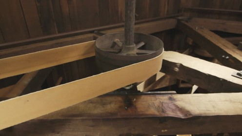 Typical gears and belts needed for mill