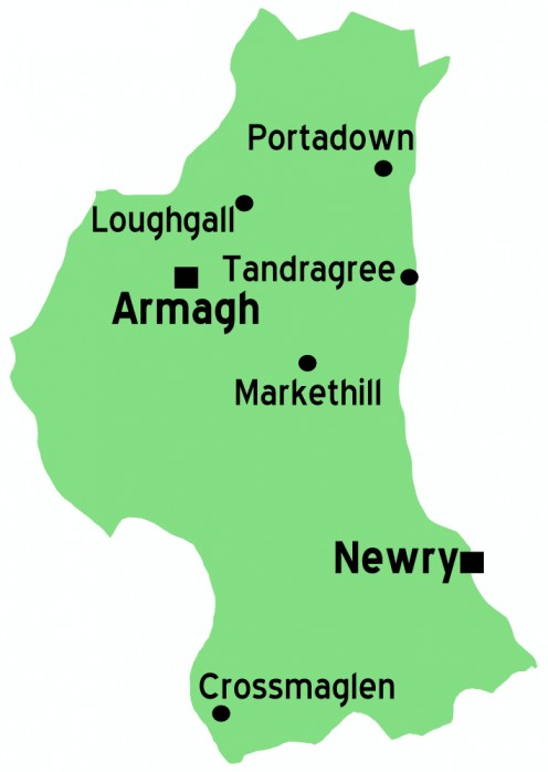 Map of County Armagh
