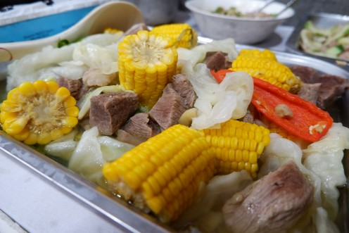 This is my favorite of all stew. I love beef stew so much added with corn. (heart)