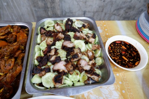 This is another grilled dish but this time it is pork and mixed with raw fish. We called it as kinilaw (raw fish)