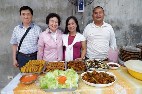 The Birthday celebrant (right side) together with his wife and our Korean friends.