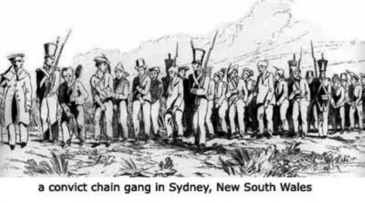 Convicts were originally sent to the New South Wales colony before other parts of the coast and interior were opened up for development. When sentence was served freed convicts could either stay or return to Britain. Most stayed