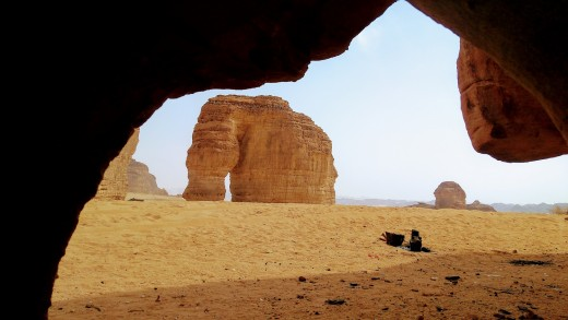 The Elephant Rock stands proud in Al Ula.