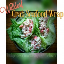 Crab Seafood Wraps or Lettuce Cups ~ Waldorf Salad-style Sandwiches for an Elegant Lunch or Dinner