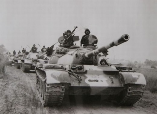 1965 war -Tanks in action