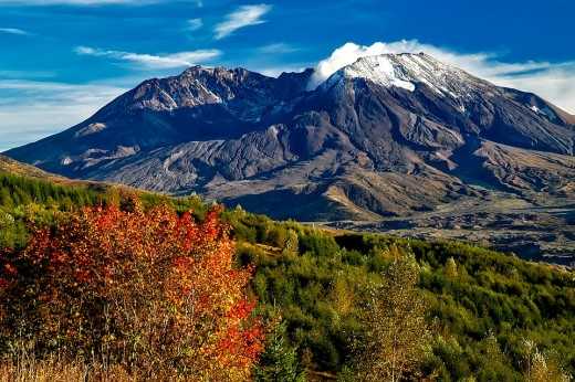 Mount St Helens is beautiful year round.