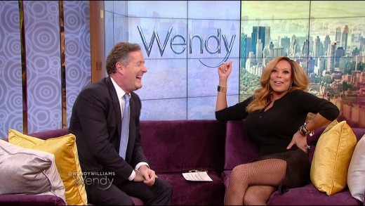 Piers Morgan and Wendy Williams
