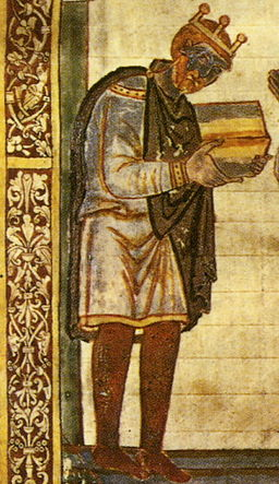 Attribution: Athelstan, from Bede's Life of St. Cuthbert.