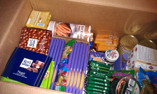 Typical content of a balikbayan box sent by Filipinos overseas to their loved ones in the Philippines