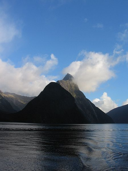 Milford Sound, in New Zealand, is an example of a fjord-type valley