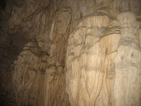 A photograph of a typical limestone cave