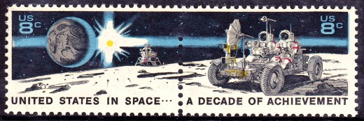 Stamp designed by  Designed by Robert T. McCall. Public Domain