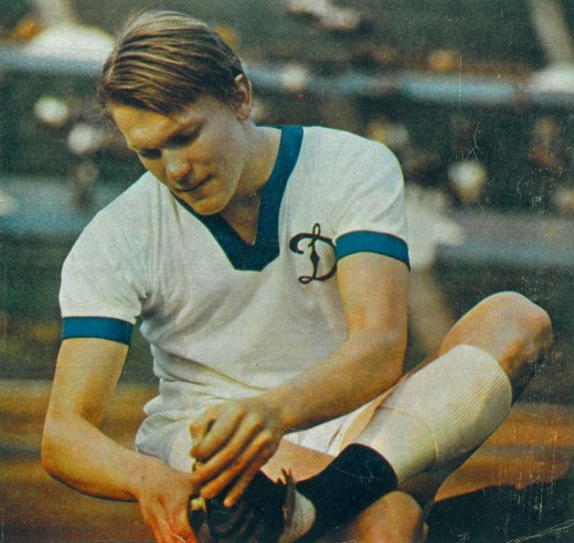 The young Oleg Blokhin in Dynamo Kyiv shirt