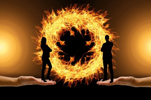 With abusive friends and you as a victim, fiery tensions and feelings can erupt into one's spirit.