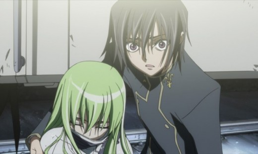 The animation from the original Code Geass anime.