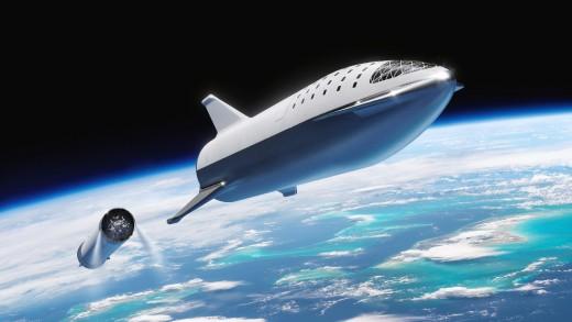 A virtual image of spaceship