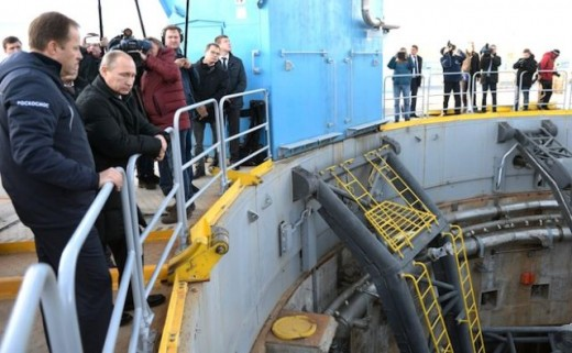 President Vladimir Putin visits the Vostochny Cosmodrome in October 2015.