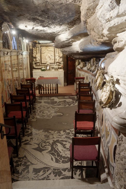 Manresa, Chapel in the Cave of Saint Ignatius where Ignatius practiced ascetism and conceived his Spiritual Exercises