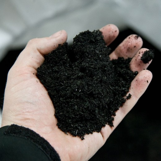 In this example shown we have biochar. Biochar is a carbon rich product made from charcoal that can live in your soil for a thousand years. Carbon is a base for life and plants cannot survive without it.