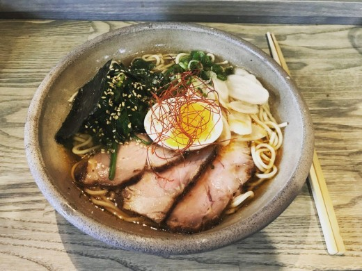 Pork ramen cooked using a kombu broth. This is a great way to consume seaweed and let its natural vitamins become one with the broth. Ramen is great when the weather is hot or cold, rain or shine.