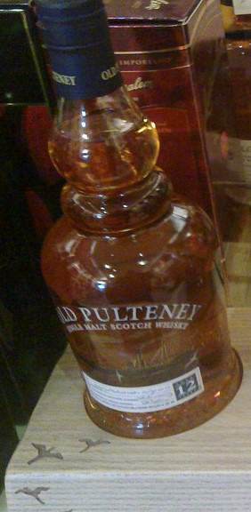 The Old Pulteney 12 year, note the distinctive bottle neck