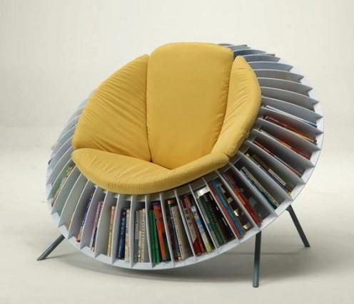 The chair for the minimalist who can't seem to get rid of books.