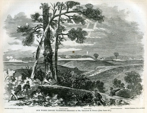 A view of Vicksburg during the war.