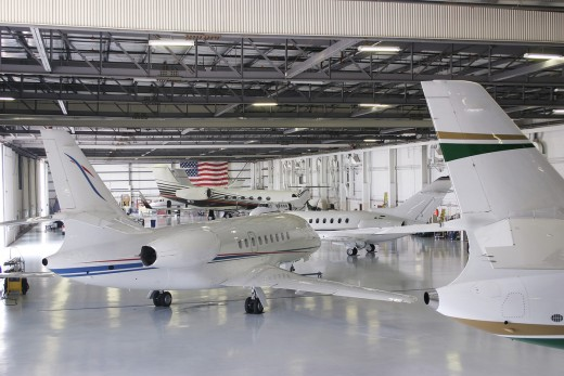 Business Jet Aircraft Hangar