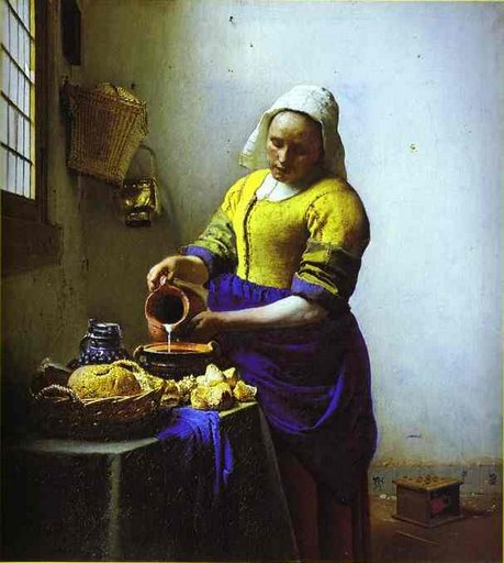 """The Milkmaid"", by Jan Vermeer"