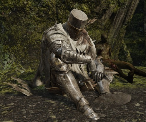 Knight resting under a Tree