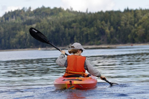Kayaking is a fun hobby.